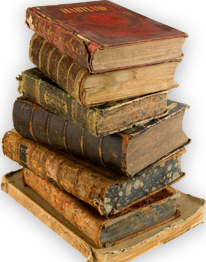 Old book stack